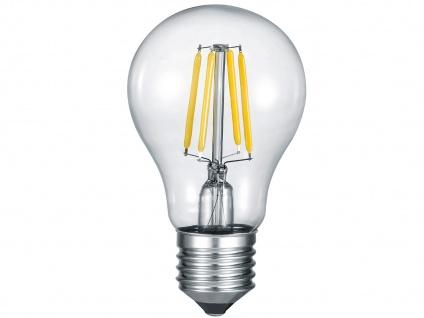 Eckige LED Deckenlampe 50x50cm, Glasschirm satiniert in weiß, grau gemustert - Vorschau 5
