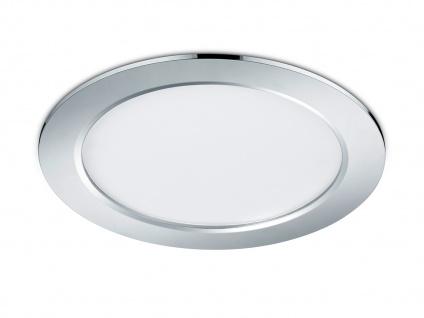 Runder LED Einbaustrahler Decke dimmbar Chrom glänzend 18W - Deckenbeleuchtung