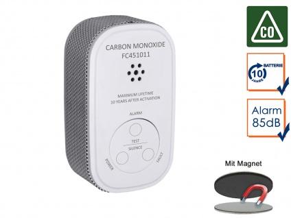 Kohlenmonoxid-Melder mit 10-Jahres Batterie & Sensor CO-Melder & Magnetmontage