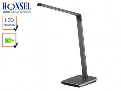 LED Schreibtischleuchte Kopf neigbar Touchdimmer USB Anschluß Bürolampen Diele