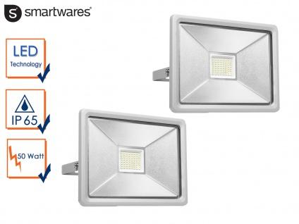 2 50W Strahler Baustrahler LED neutralweiß Scheinwerfer Arbeitsleuchte Flutlicht
