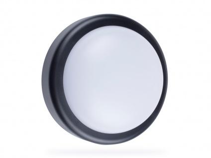 Runde LED Außenwandleuchte schwarz Ø 19, 7cm Außenbeleuchtung Haus Fassade Garten - Vorschau 3