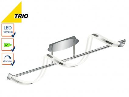 LED Deckenleuchte Deckenlampe SYDNEY, Chrom, L. 103 cm, dimmbar, 20W LED, Trio