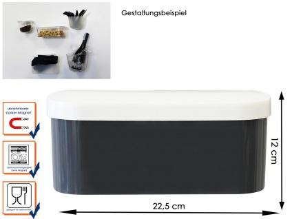 Kunststofftopf mit Deckel und Magnet, Breite 22cm, Wandaufbewahrung, KalaMitica