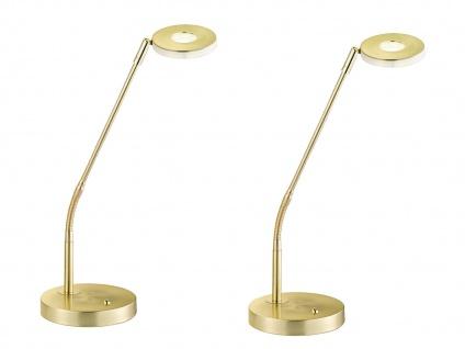 Flexible LED Schreibtischlampen DENT Messing mit Dimmer & Farbtemperaturwechsel