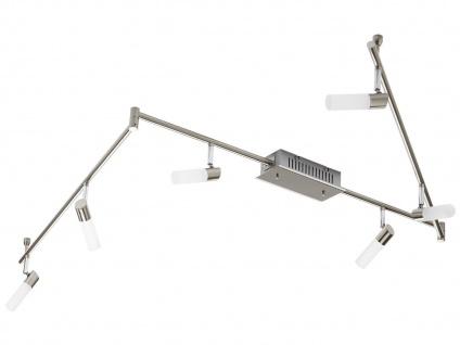 LED Deckenleuchte schwenkbar, Nickel / Chrom, Acryl weiß, Honsel Leuchten