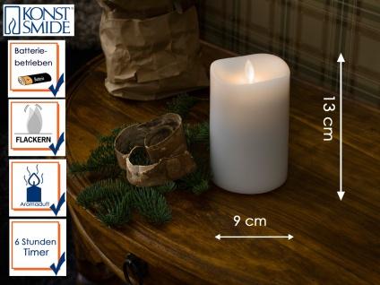 LED Duftkerze Echtwachs 6h Timer mit Lavendel Duftpad H. 13cm Stimmungslicht