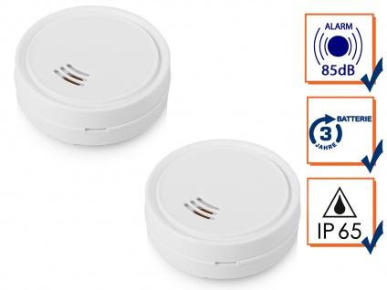 Smartwares Mini Wassermelder 2er Set mit lautem Alarm, Schutz vor Wasserschäden