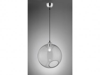 Designer LED Pendelleuchte Glas Lampenschirm Kugelform Ø35cm 1 flammig in rauch
