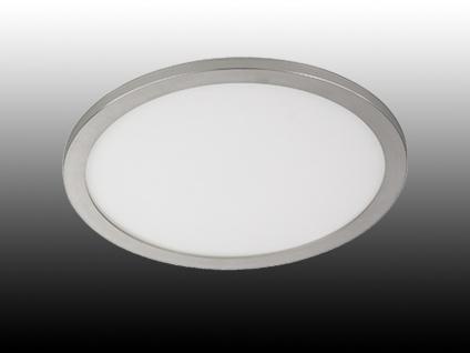 Flache LED Innenleuchte für das Badezimmer, große Deckenlampe, Ø 60cm,  dimmbar