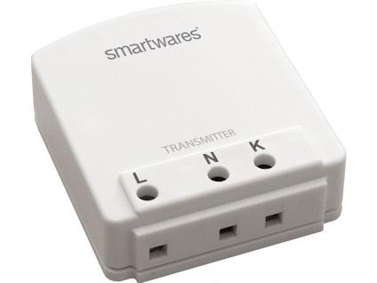 Drahtloser Einbausender kompatibel mit BASIC Lichtschaltern in Funk nachrüsten