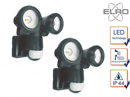 2er Set LED Sicherheitsleuchte 12 Meter Bewegungsmelder 10W Wandleuchte außen
