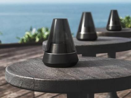 Design Öllampen mit Bluetooth Lautsprecher Schwarz - Deko Tischlampen Windlicht