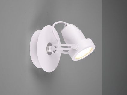 Kleiner Wandstrahler Weiß rund schwenkbare Retro Deckenlampen für Flur und Diele