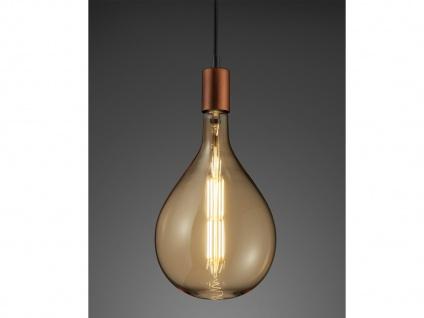 Großes DEKO Filament LED Leuchtmittel E27 Fassung dimmbar Ø18cm warmweiß 8Watt