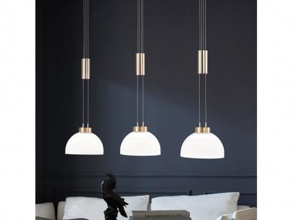 LED Balken Zugpendelleuchte messing 3flammig höhenverstellbar für über Esstisch
