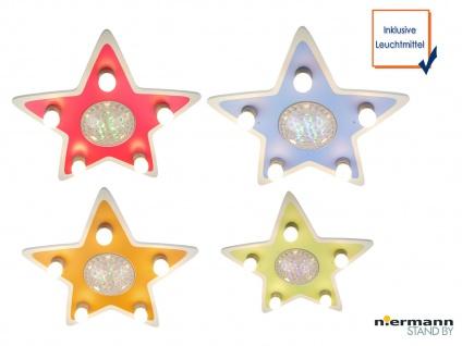 LED Kinder Deckenleuchte Stern Lampe Kinderzimmer 4 Farben zaubern Lichteffekte