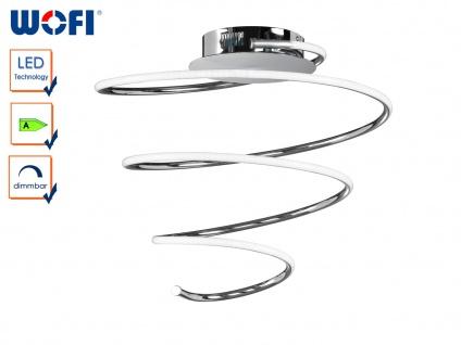 Design LED Deckenleuchte SOLLER, dimmbar, Chrom, Ø 47cm, Deckenlampen Lampen