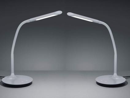 2 Stück LED Arbeitsleuchten in grau mit Flexgelenk + 4fach Touch Dimmer H. 41cm