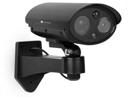 Kamera Attrappe mit Bewegungsmelder und Schwenkbewegung, Dummy Fake Überwachung