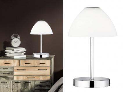 LED Tischleuchten 2er SET Metall 4-fach Touch Dimmer Chrom glänzend, 24cm hoch