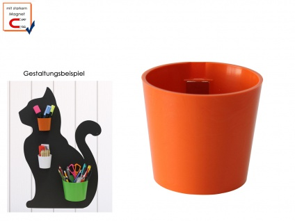 Kunststofftopf mit Magnet, Kegel Ø 10cm, Wandaufbewahrung Deko, KalaMitica