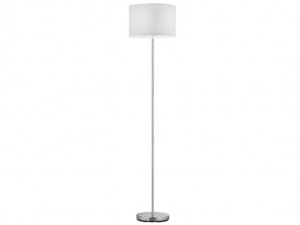 Design Stehleuchte mit rundem Stoffschirm in Weiß - Standlampen fürs Wohnzimmer - Vorschau 2