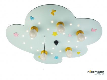 Deckenleuchte Babyline hellblau Zugschalter für LED-Schlummerlicht WÖLKCHEN