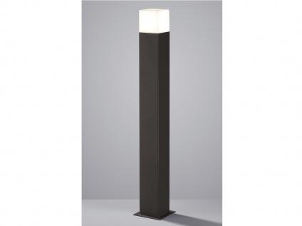 Moderne LED Pollerleuchte in Anthrazit 80cm - Wegeleuchte Terrassenbeleuchtung