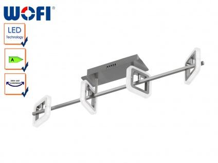 4-flg. Deckenleuchte LED, Acrylglasringe drehbar, Wofi-Leuchten