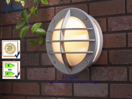 Außenwandleuchte 31cm, Wandlampe silber, Beleuchtung Haus Terrasse, Konstsmide