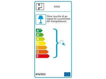 Tischleuchte LOG Schirm eckig Struktustoff beige Wohnzimmerlampe Honsel-Leuchten - Vorschau 4