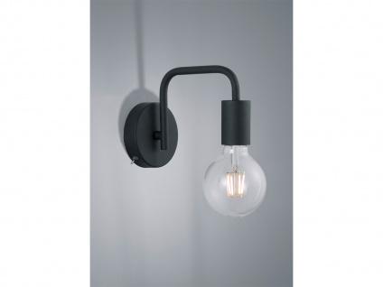 Coole Wandleuchte 15x10cm aus Metall in schwarz matt mit großem FILAMENT LED