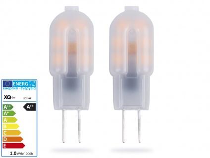 2er-Set Niedervolt LED Leuchtmittel 1, 2 Watt warmweiß, Stiftform G4 GU4 / 12V