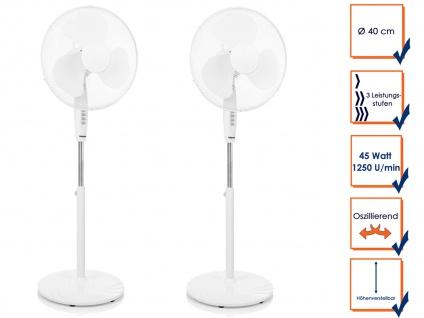 SET Ozillierender Standventilator Zimmerventilator Winderzeuger Windmaschine
