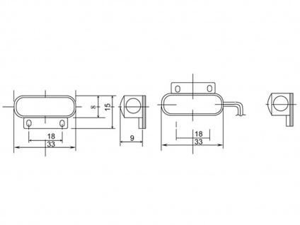 2er Set Mini-Magnetkontakt, 3, 4 x 1, 5 x 0, 8 cm, Einbruchschutz an Fenster & Tür - Vorschau 4