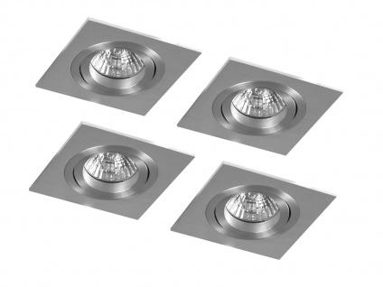 4er-Set Aluminium Einbaustrahler Einbauspot dimmbar schwarnkbar 230LM