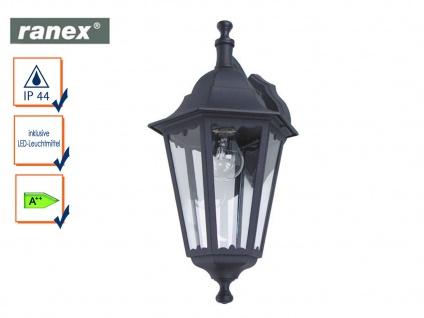LED Außenwandleuchte Laterne CLASSICO schwarz, Außenbeleuchtung Haus Fassade
