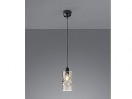 Moderne LED Pendelleuchte 1 flammig aus Metall mit Rauchglas für EsstischLAMPEN