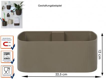 Wandaufbewahrung Wanddeko Kunststofftopf mit Magnet, B. 22 cm Taube, KalaMitica