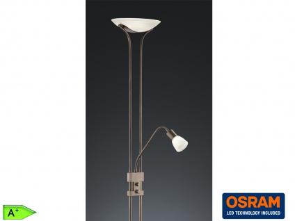 Designer LED Deckenfluter mit Leselampe Stehlampe dimmbar Standlampen Wohnzimmer