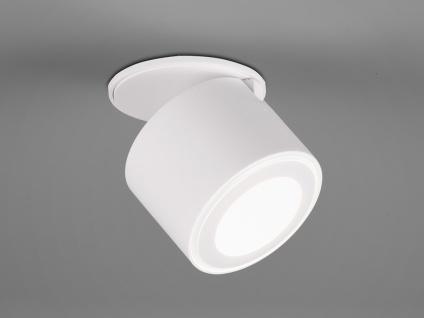 Kleiner LED Deckenstrahler Weiß rund schwenkbare Deckenlampen für Flur und Diele - Vorschau 4