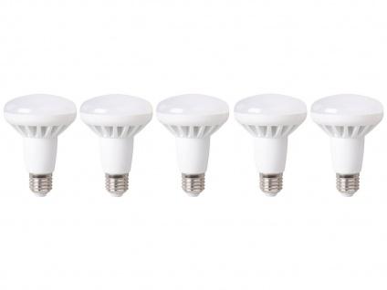 5er-Set LED Leuchtmittel 10W warmweiß, 650 Lumen, E27, 3000 Kelvin