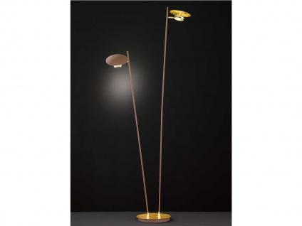 Dimmbare LED Stehleuchte Gold / Braun schwenkbar Höhe 150cm 9W - Wohnraumleuchte