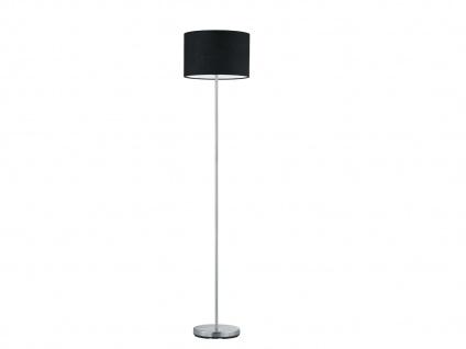 Design Stehleuchte mit rundem Stoffschirm Schwarz - Standlampen fürs Wohnzimmer