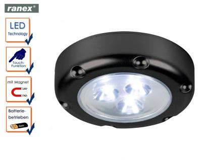 Mini LED Touch Spotlicht FLORENZ schwarz, Nachtlicht Schranklicht Pushlight