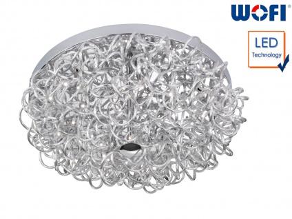 Design Deckenleuchte Ø 42cm Silber 11 Watt LED, Deckenbeleuchtung Wohnzimmer