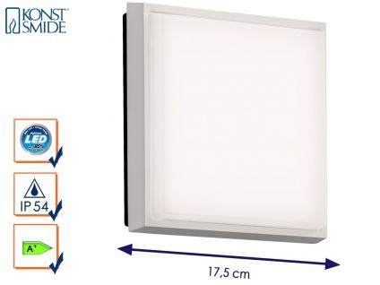 LED Wandleuchte / Deckenleuchte CESENA eckig, Alu weiß, 10W, 900 Lumen, IP54