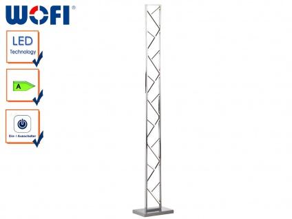 LED Standlampe in Silber, Höhe 130cm, Design Stehleuchte Stehlampen Wohnzimmer