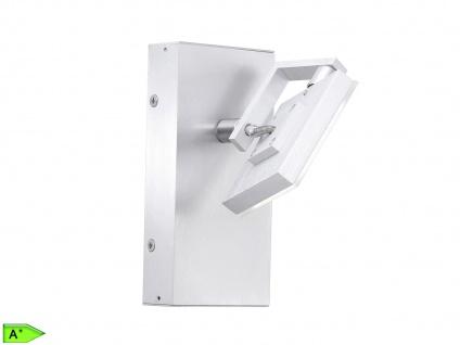 Schwenkbarer LED Wandspot m. Schalter Aluminium matt/Chrom FLI-Leuchten